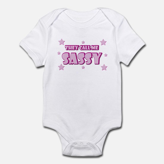 Pink / They Call Me Sassy Infant Bodysuit