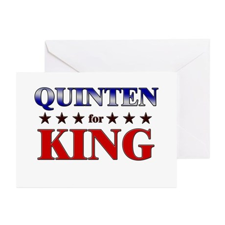QUINTEN for king Greeting Cards (Pk of 20)