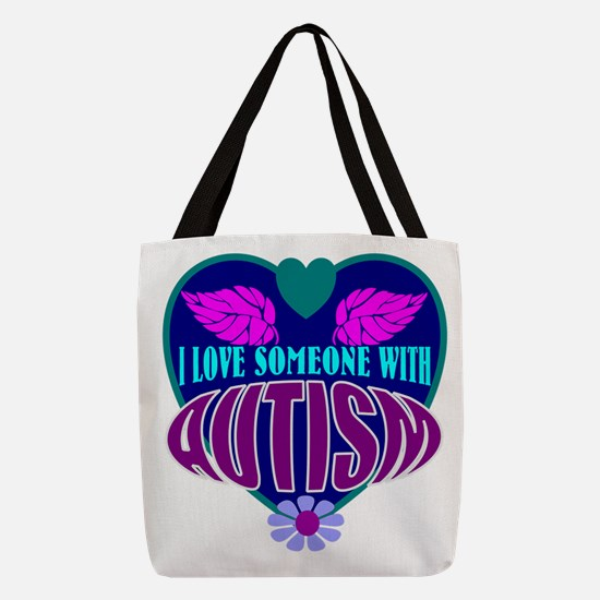 autism heart Polyester Tote Bag