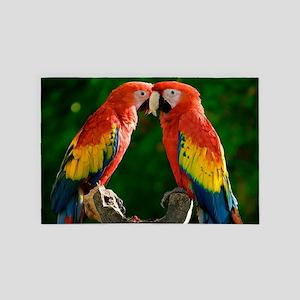 Beautiful Parrots 4' x 6' Rug