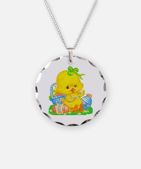 Vintage Cute Easter Duckling Necklace