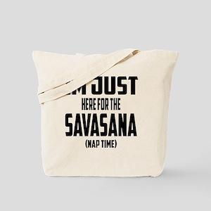 Im Just Here for The Savasana (Nap Time) Tote Bag