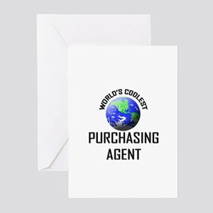 World's Coolest PURCHASING AGENT Greeting Cards (P