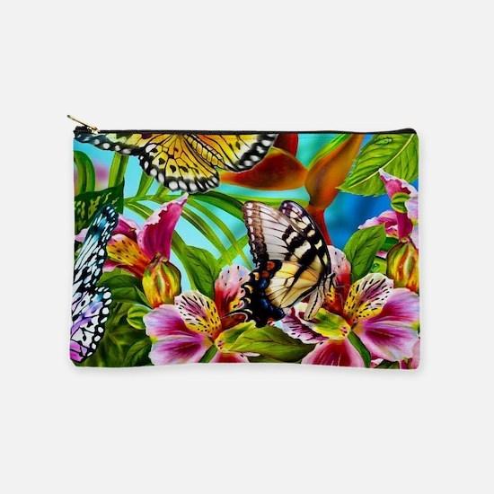 Beautiful Butterflies And Flowers Makeup Bag