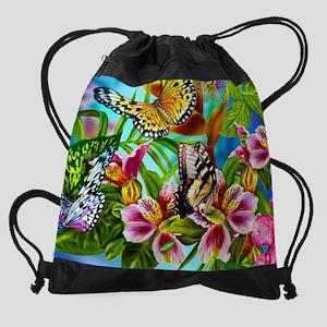 e073504667c6 Beautiful Butterflies And Flowers Drawstring Bag