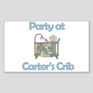 Party at Carter's Crib Rectangle Sticker