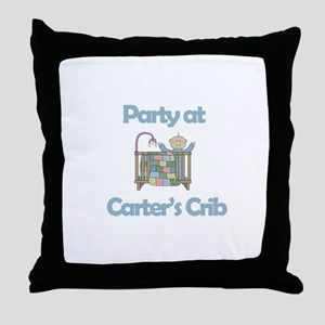 Party at Carter's Crib Throw Pillow