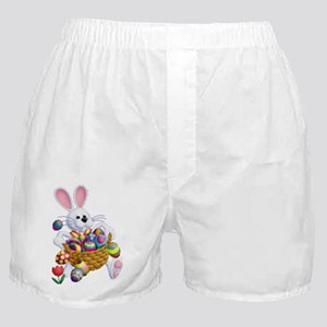 Easter Bunny with Basket of Eggs Boxer Shorts