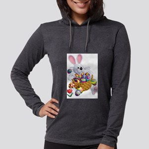 Easter Bunny with Basket of Eggs Long Sleeve T-Shi