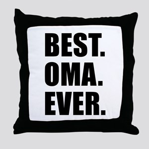 Best Ever Oma Drinkware Throw Pillow
