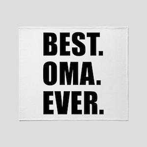 Best Ever Oma Drinkware Throw Blanket