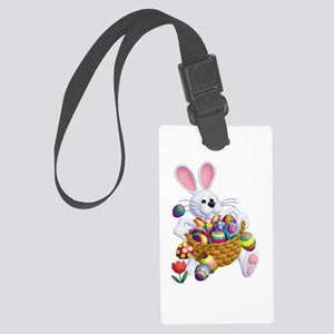 Easter Bunny With Basket Of Eggs Large Luggage Tag