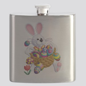 Easter Bunny with Basket of Eggs Flask