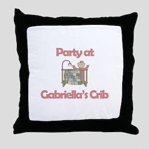 Party at Gabriella's Crib Throw Pillow