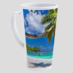 Tropical Beach 17 oz Latte Mug