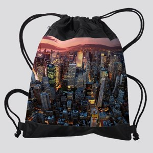 Skyscrapers Drawstring Bag