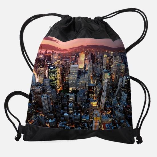 Skyscrapers Drawstring Bag