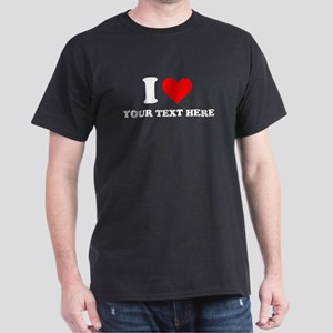 I Heart Personalized Dark T-Shirt