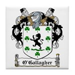 O'Gallagher Family Crest Tile Coaster