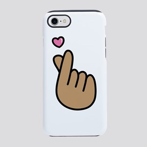 Finger Heart Sign iPhone 8/7 Tough Case