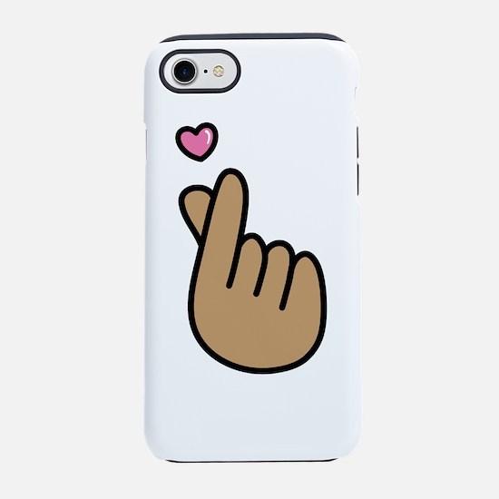 Finger Heart Sign iPhone 8/7 Tough Case