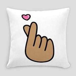 Finger Heart Sign Everyday Pillow