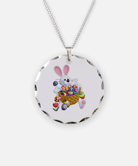 Easter Bunny With Basket Of Necklace