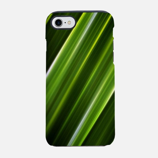 black lime green lines abstr iPhone 8/7 Tough Case