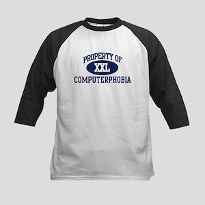 Property of computerphobia Kids Baseball Jersey