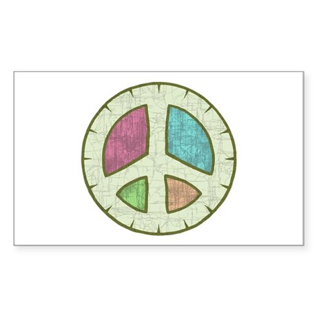 Druid Peace Rectangle Sticker