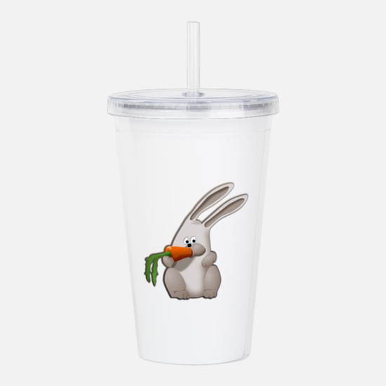 Rabbit Eating A Carrot Acrylic Double-Wall Tumbler