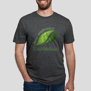 Eco Friendly Zambian County Mens Tri-blend T-Shirt