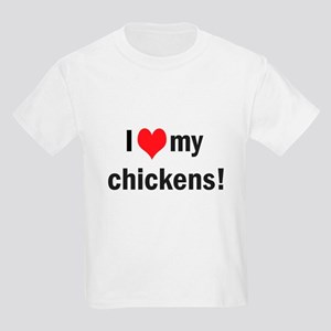 heart my chickens Kids Light T-Shirt