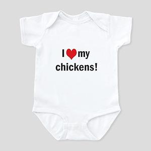 heart my chickens Infant Bodysuit