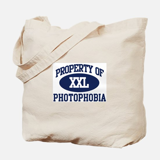 Property of photophobia Tote Bag