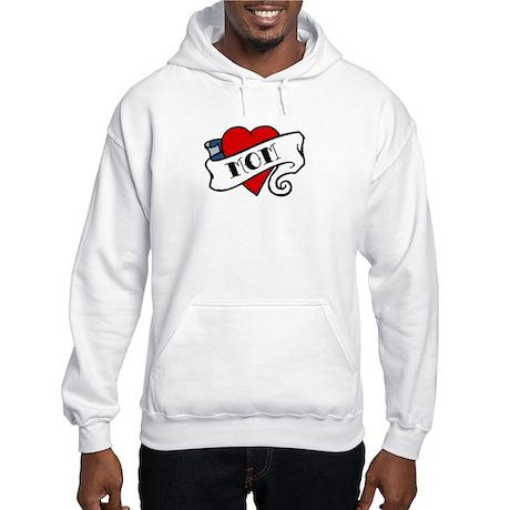 I Love Mom (tattoo style) Hooded Sweatshirt