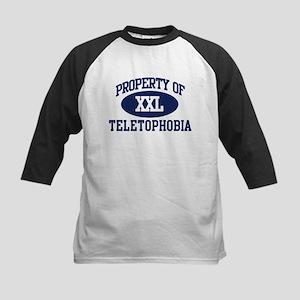 Property of teletophobia Kids Baseball Jersey
