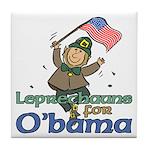 Leprechauns for O'Bama Tile Coaster
