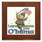 Leprechauns for O'Bama Framed Tile