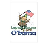 Leprechauns for O'Bama Postcards (Package of 8)