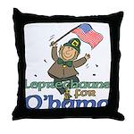 Leprechauns for O'Bama Throw Pillow