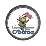 Leprechauns for O'Bama Wall Clock
