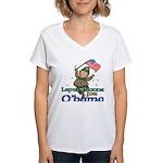 Leprechauns for O'Bama Women's V-Neck T-Shirt