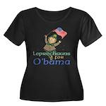 Leprechauns for O'Bama Women's Plus Size Scoop Nec