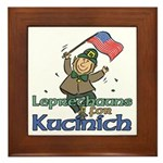 Leprechauns for Kucinich Framed Tile