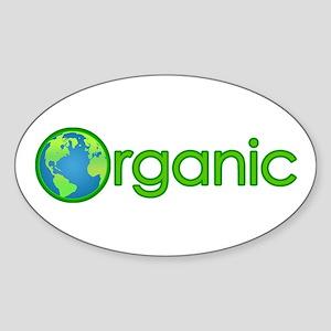 Organic Earth Oval Sticker
