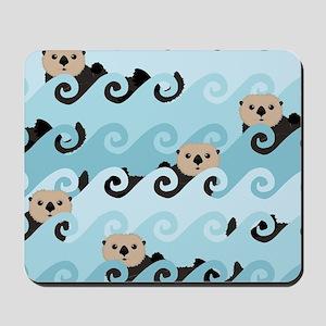 Cute Sea Otters Mousepad