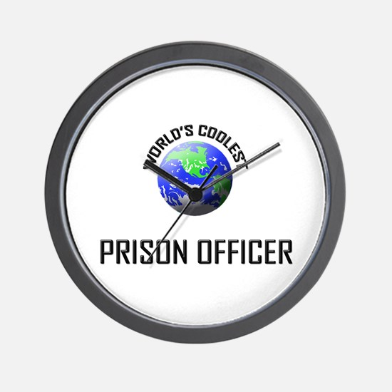 World's Coolest PRISON OFFICER Wall Clock