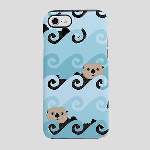 Cute Sea Otters iPhone 8/7 Tough Case