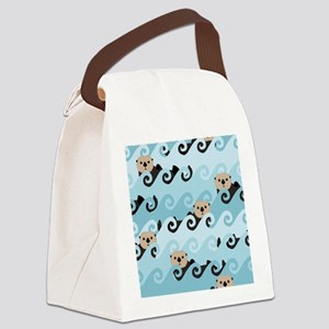 Cute Sea Otters Canvas Lunch Bag